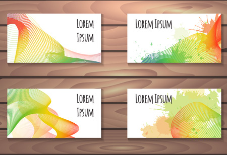 metamorphosis: Set of certificates, cards with rainbow lines metamorphosis and with place for text for your business Illustration