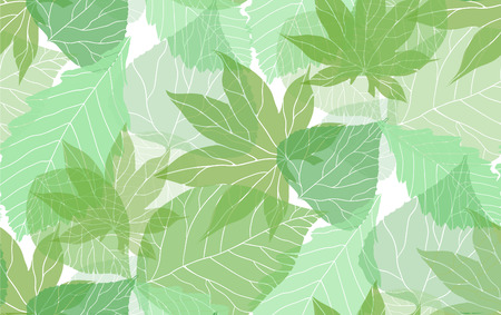 Seamless eco pattern with colorful translucent leaves for your creativity Vectores