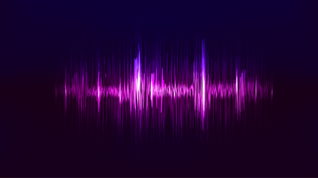 glowing: Vector techno background with vibration sound. Resonance. Pulse. cardiogram