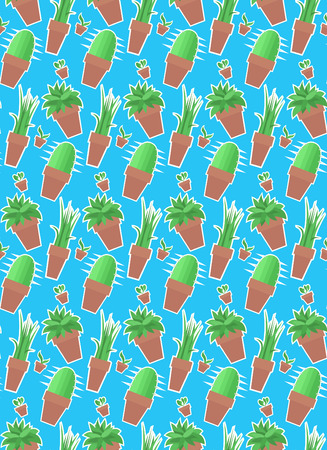 house plants: Seamless pattern with house plants for your creativity