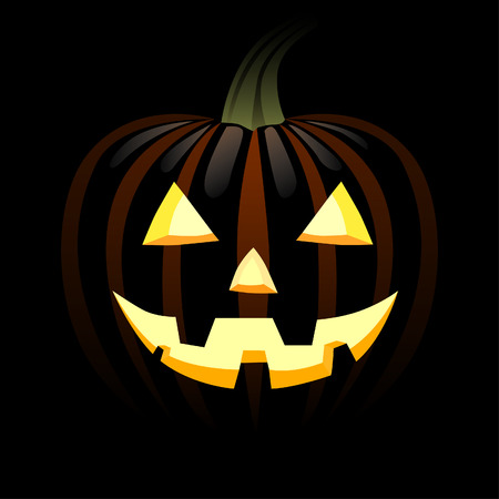 wicked set: Illustration of a pumpkin with a smile Illustration