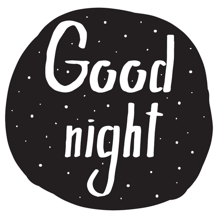 good night: Handwriting font with a wish Good night for your design