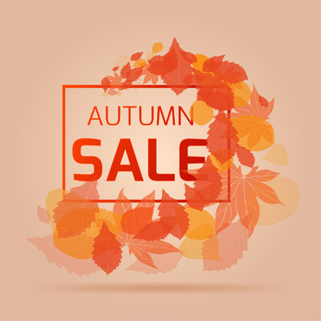 whirlpool: Banner for the autumn sales and discounts with whirlpool autumn leaves
