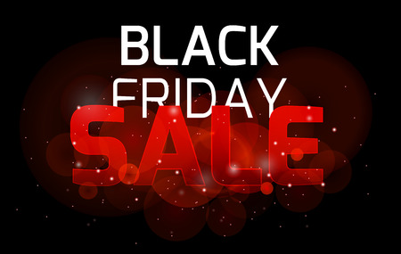 thanksgiving card: Black friday sale background bright sparkles and bokeh for your business Illustration
