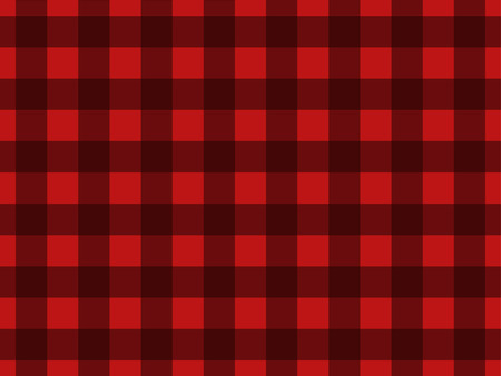 Seamless pattern with black squares on a red background lumberjack for your creativity