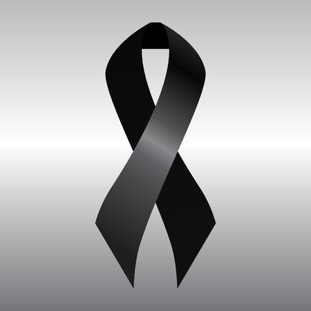 condolence: Black mourning ribbon