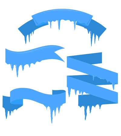 icicles: Set of ribbons with icicles for your business