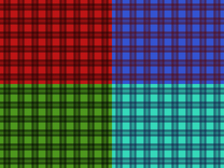 plaid patterns: Set of seamless plaid patterns for your creativity