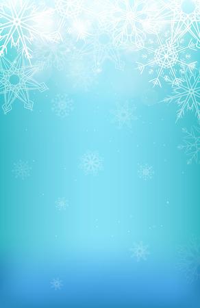 schneeflocke: Winter-Hintergrund mit Schneeflocken, funkelt und unscharfen Hintergrund f�r Ihre Kreativit�t