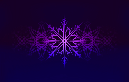 flocon de neige: background with glowing snowflakes for your creativity