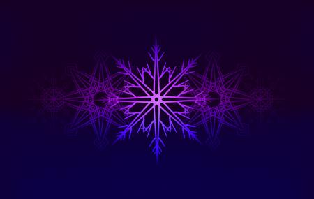 copo de nieve: de fondo con copos de nieve que brilla intensamente por su creatividad Vectores