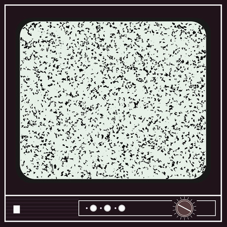 old television: Illustration of an old television with noise for your creativity Illustration