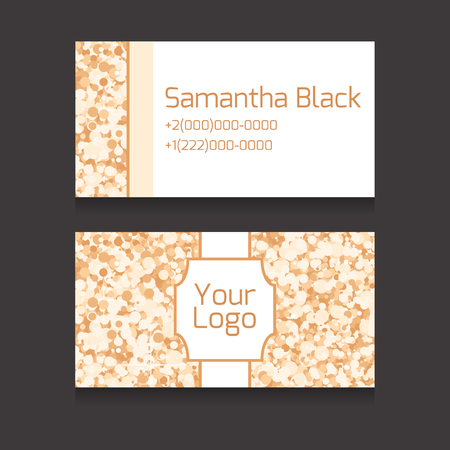 bussiness card: Set of double-sided business card with space for your text and icon with a luxurious background with sparkles for your business