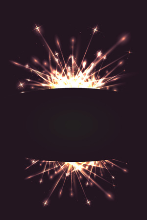 Postcard with fireworks and a place for text for stationery, flyers, banners and posters