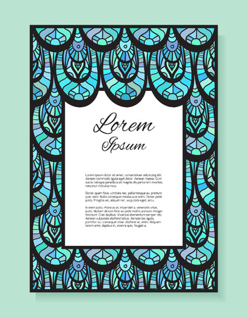 fish with scales: Template thank-you letter, invitation, cover with space for text and abstract background with fish scales