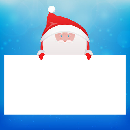 klaus: Illustration with Santa Claus and place for text for your creativity