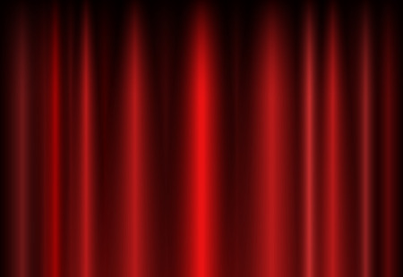 window curtain: Background with a red curtain on the stage for your creativity