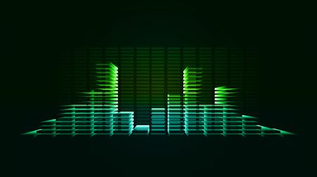 vibration: Vector techno background with vibration sound. Equalizer