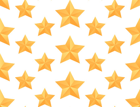 paper origami: Seamless vector pattern with paper origami stars for your design