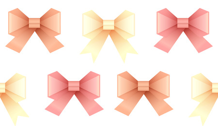 to tie: Seamless pattern with paper origami bows for your creativity Illustration