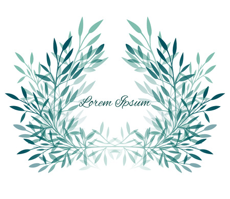Marco de las hojas, las plantas y ramas con espacio para el texto de su creatividad