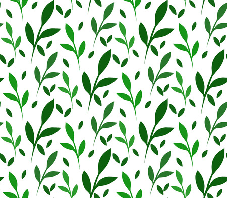 Seamless vector texture with little green leaves for your creativity