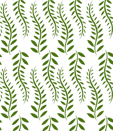 bindweed: Seamless texture with green bindweed for your creativity Illustration