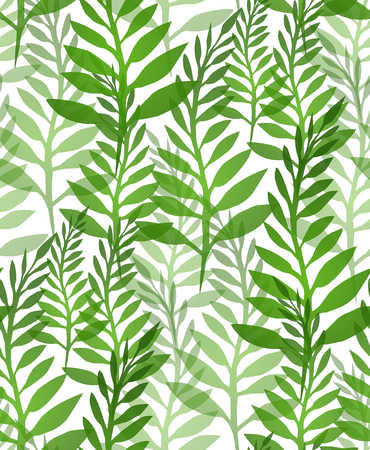 ferns: Seamless texture with plants and ferns. background for your design Illustration