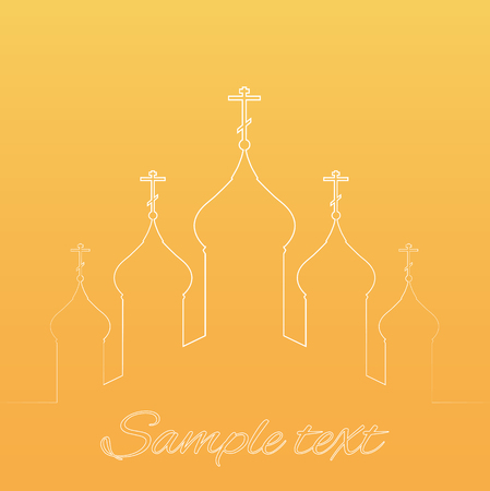 Vector illustration with the contours of the orthodox church vector vector illustration with the contours of the orthodox church for infographics greeting cards invitations and your design m4hsunfo