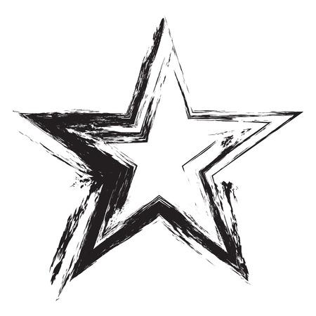 grunge frame: Grunge frame star. Vector element for design flyers, brochures, invitations, and your design ideas