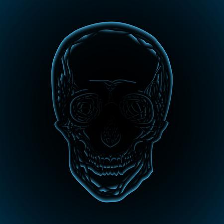 x ray image: X-rays of the human skull. Illustration