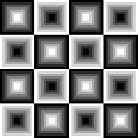 checkerboard: Seamless black and white pattern of squares in a checkerboard pattern