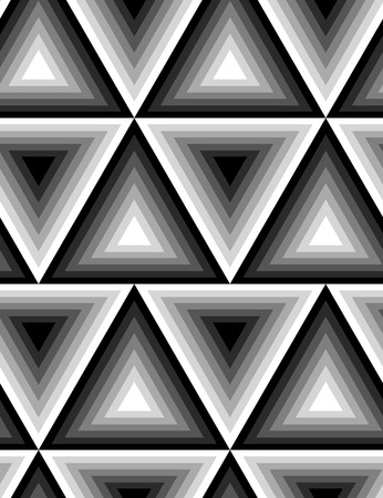grey pattern: Seamless black and white texture with triangles. Vector background for your design.