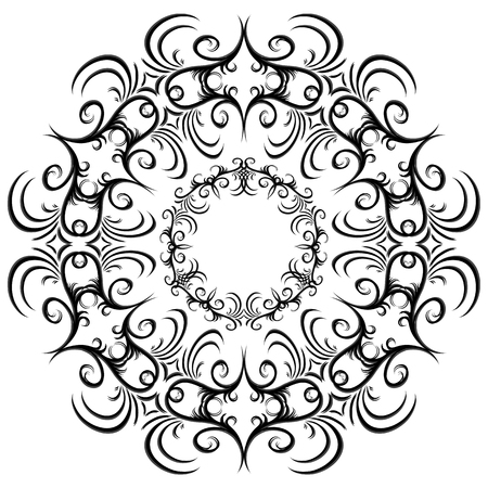 circle design: Set of black and white vintage round frames. Vector element for design of cards, invitations, banners and your creativity