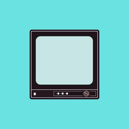 television antigua: Ilustración vectorial plano de un viejo aparato de TV. vector de los elementos logotipos, infografía y el diseño