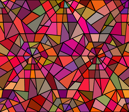 Seamless texture with a broken stained glass. Vector background. Seamless pattern. Broken window Vettoriali