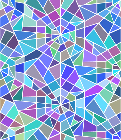 Seamless texture with a broken stained glass. Vector background. Seamless pattern. Broken window Ilustrace