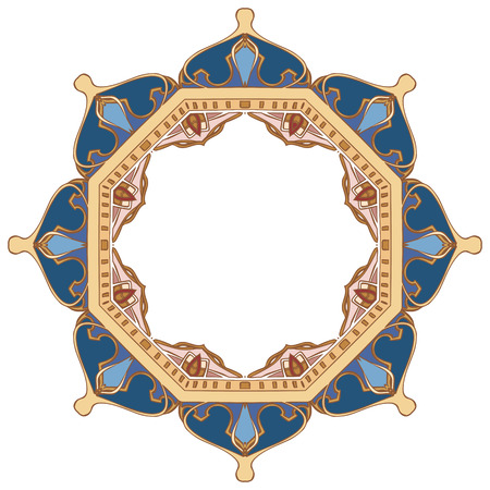 domes: Arabian round frame. Vector doodle elements for your design. The pattern of the domes