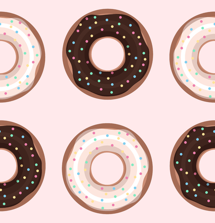 sprinkling: Seamless texture with donuts. Vector background for cards, scrapbooking, cards and your creativity