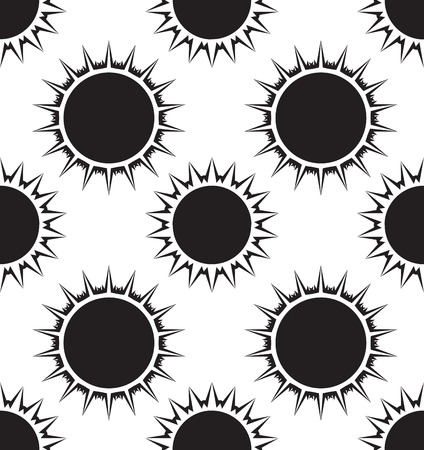 infantile: Seamless texture with the sun. Vector background for your creativity