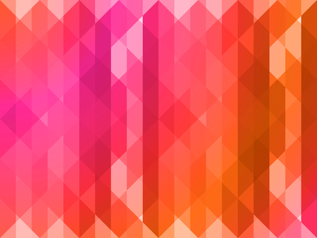 patchwork quilt: Vector polygonal pattern in red tones. Patchwork quilt. Illustration