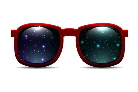 fashion sunglasses: Trendy fashion sunglasses with space in the lenses. Vector element for your creativity Illustration