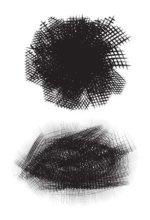 cross hatching: Template Ink Scribbles and Scratches. Vector element for your creativity Illustration