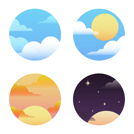 drifting: Set of round icons on the weather. Vector element for your design Illustration