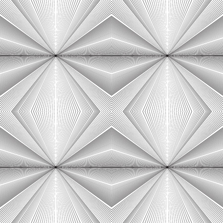 emanating: Seamless black and white texture with lines emanating from the center. background for your creativity