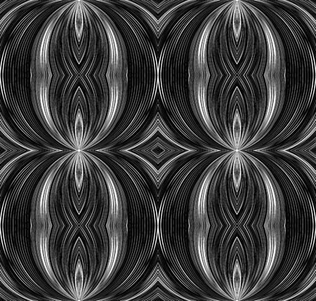 emanating: Seamless black and white texture with curved lines emanating from the center. background for your creativity