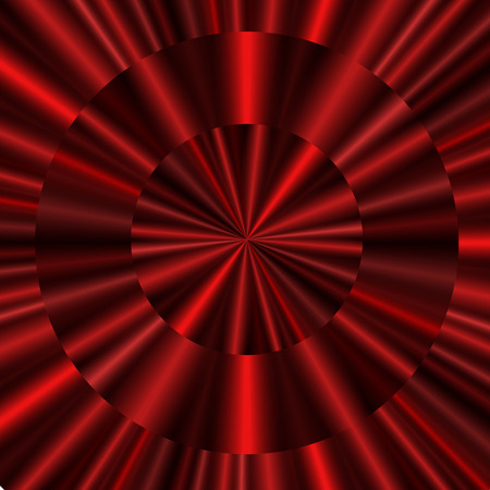 Red concentric curtain background for your design Illustration
