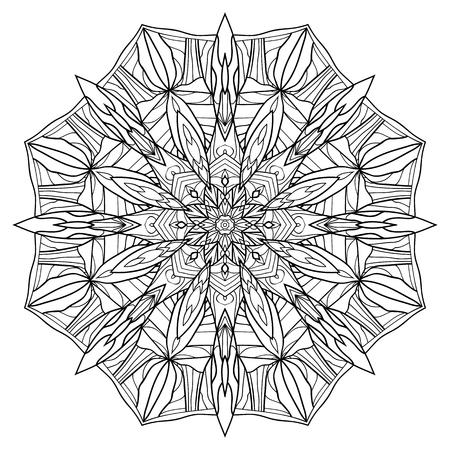 Patrón De Mandala En El Estilo De Vidriera Ilustraciones Vectoriales ...