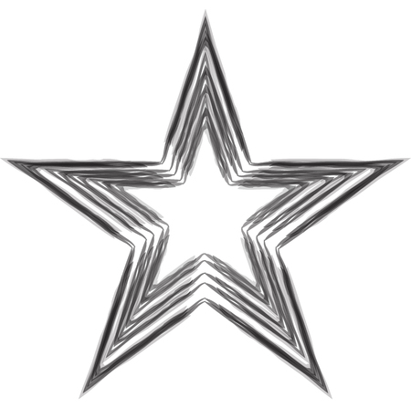 Grunge star. Charcoal drawing. Vector element for your design