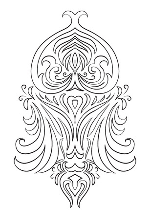 crocket: Black and white vintage tracery. Vector pattern for frames, invitations and your design Illustration